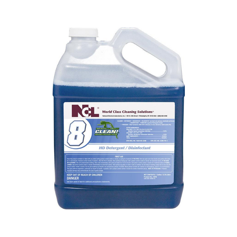 RSC #8 HD Detergent / Disinfectant, 1 gal (Carton of 4)