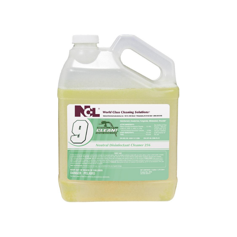 RSC #9 Neutral Disinfectant Cleaner 256, 1 gal (Carton of 4)