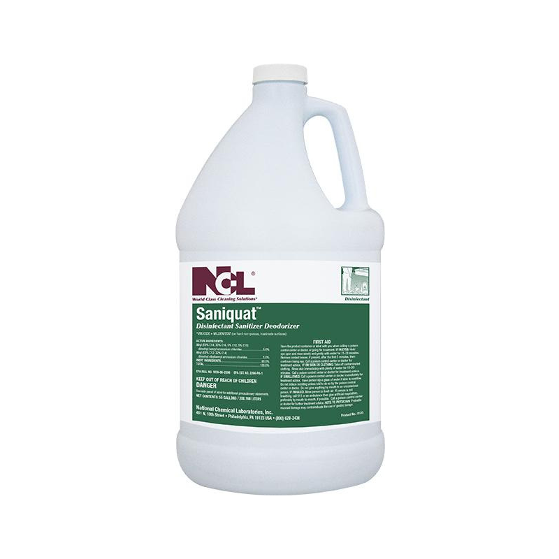 Saniquat Disinfectant Sanitizer Deodorizer, 1 gal (Case of 4) Currently a 2 week lead time on NCL products