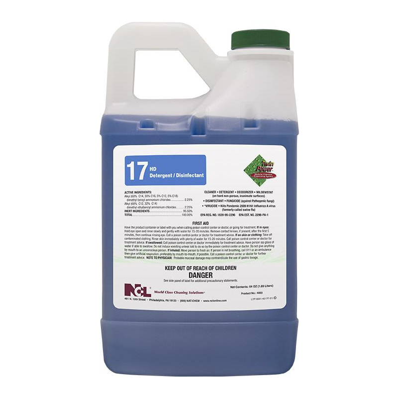Twin Power™ #17 HD Detergent/Disinfectant, 64 oz (Carton of 6)