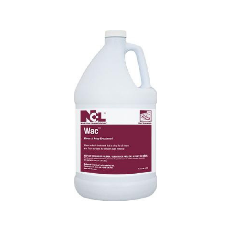 Wac Wax Base Floor & Mop Treatment, 1 gal (Carton of 4)