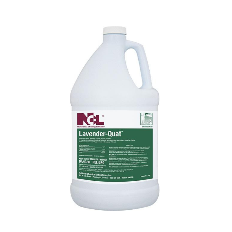 Lavender-Quat Disinfectant Cleaner, 1 gal (Carton of 4) All NCL products are on a 2 week lead time