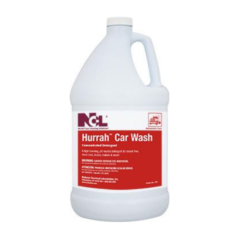 Hurrah Car Wash Concentrated Detergent, 1 gal (Carton of 4)