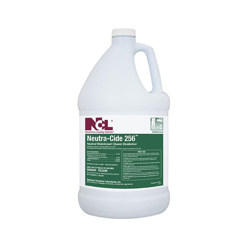 Neutra-Cide 256 Neutral Disinfectant Cleaner / Deodorizer, 1 gal (Carton of 4)