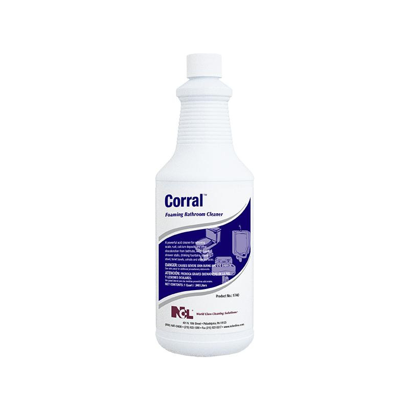 Corral Foaming Bathroom Cleaner, 32 oz (Carton of 12)
