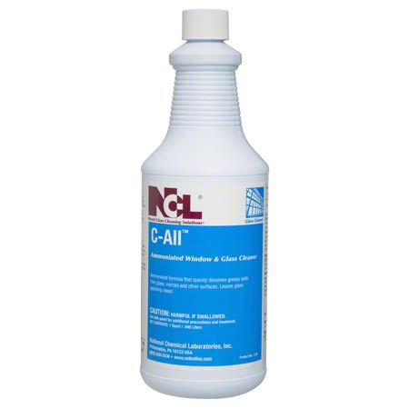 C-All Ammoniated Glass & Window Cleaner, 32 oz (Carton of 12)