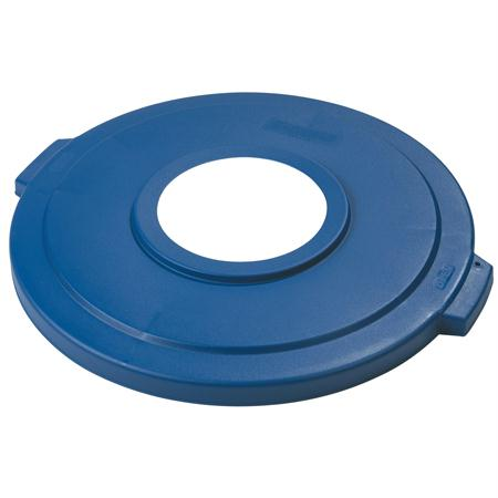 Carlisle Bronco Recycling Containers & Lids-Blue(Lid For 44 Gal.)