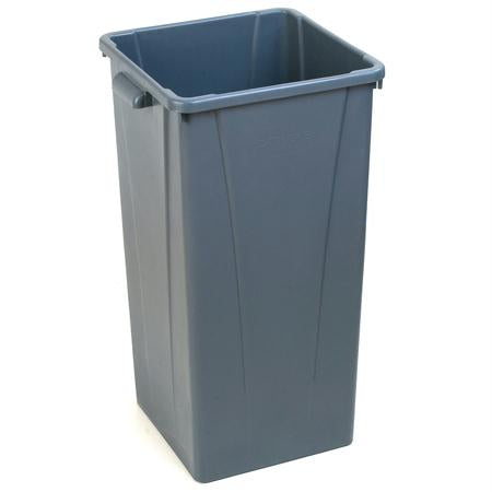 Carlisle Centurian 23 Gal. Tall Square Trash Can-Gray