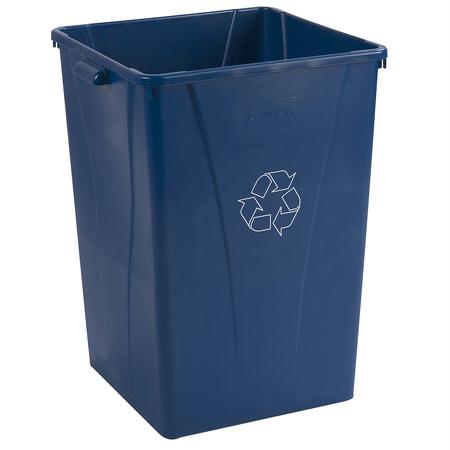 Carlisle Centurian Square RECYCLE Waste Container-Blue(35 Gal.)