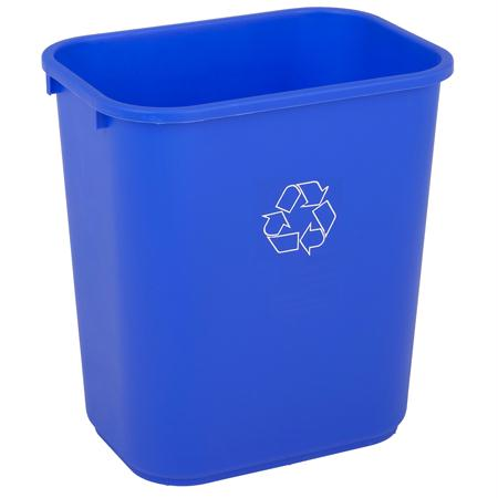 Continental Recycle Rectangular Wastebasket(28 1-8 qt.)