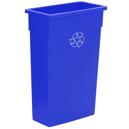 Continental Wall Hugger Recycling Receptacle(23 Gal.)