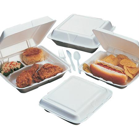 Dart Foam Hinged Lid Containers-White(All Purpose)