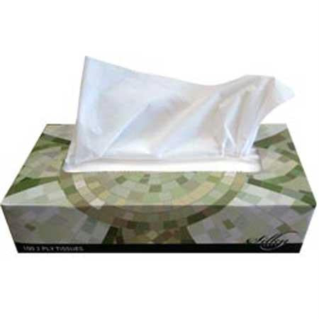 "Gen Facial Tissue-White(8"" x 7.4"")"