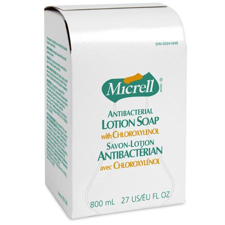 GOJO Micrell Antibacterial Lotion Soap Refill(800 mL BIB)