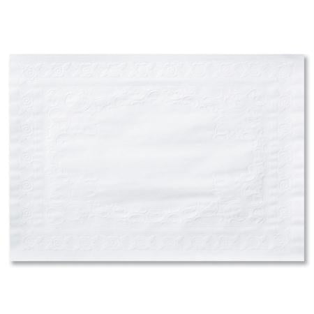 Hoffmaster White Classic Embossed Placemat