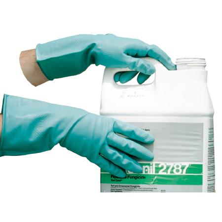 Impact Flock Lined and Unlined Nitrile Gloves(Large)