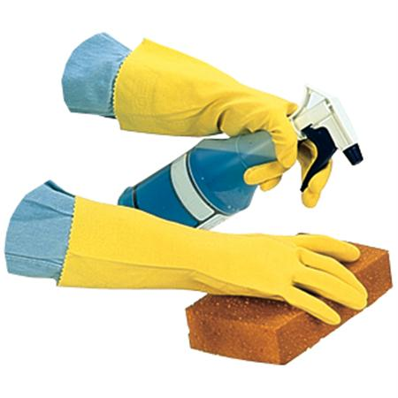 Impact Flock Lined Latex Gloves-Yellow(Small)