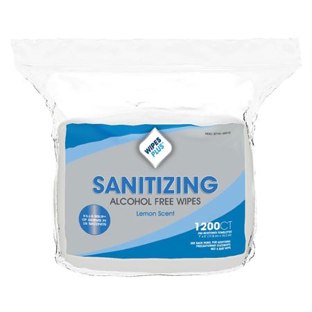 WipesPlus Sanitizing Alcohol Free Wipes Refill(1200 ct. Refill)