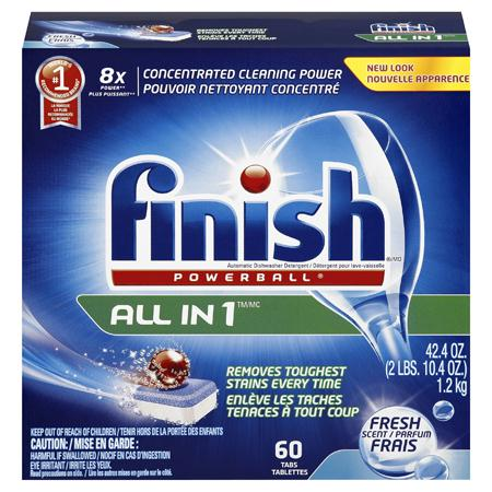 FINISH ALL in 1 Power Ball Tabs Rinse Agent(60 ct.)