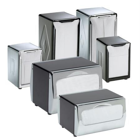 San Jamar Table-Top Napkin Dispensers-Stainless Steel