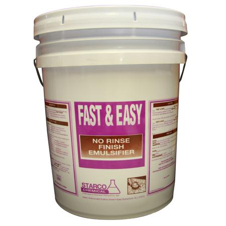 Starco Fast & Easy No Rinse Finish Emulsifier(5 Gal. Pail)