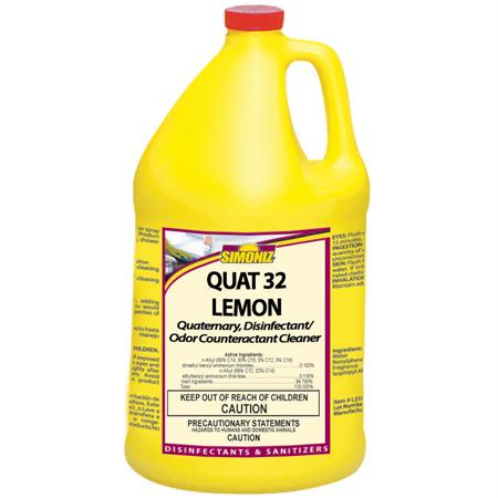 Simoniz Quat 32 Lemon Disinfectant & Sanitizer(Gal.)