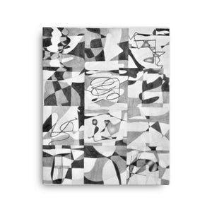 B/W Mosaic Collage Canvas Art