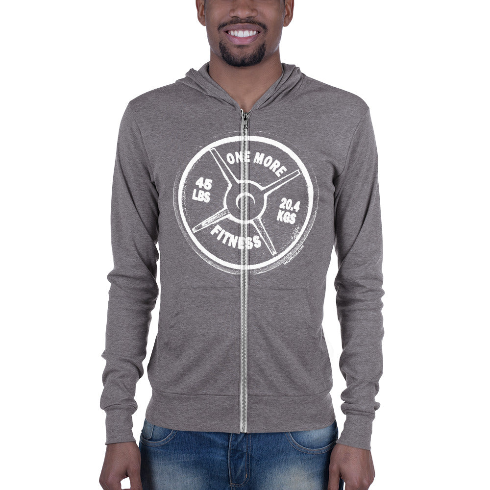 ONE MORE Light Weight Unisex Zip Hoodie (3 Color Options)