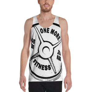 ONE MORE Barbell All-Over Print Unisex Tank Top