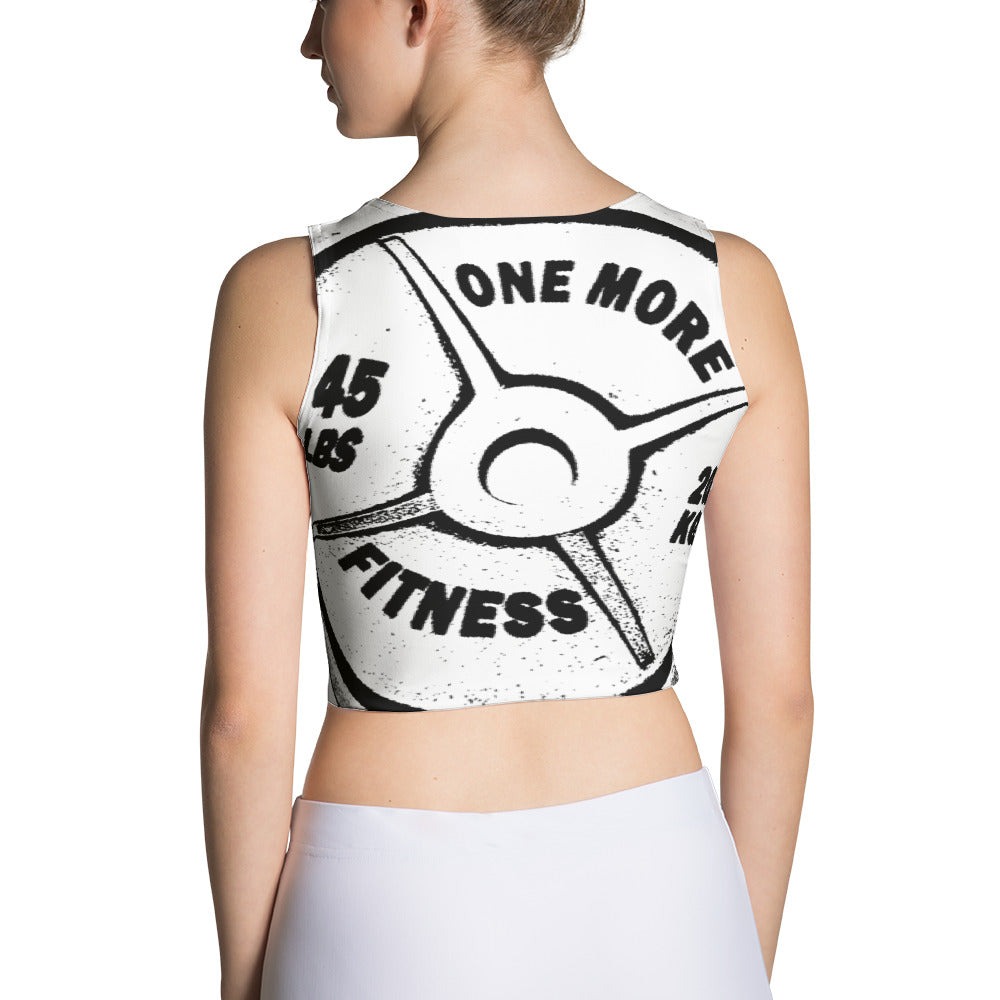 ONE MORE Barbell Print Sublimation Cut & Sew Crop Top