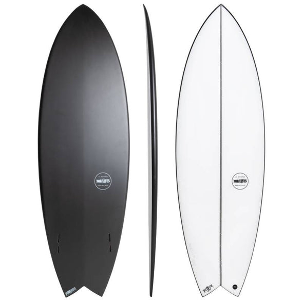 Tabla De Surf Black Baron JS Swallow Tail Polyester