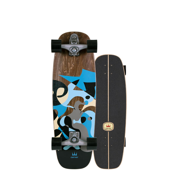 "Carver 30"" Blue Ray Surfskate"