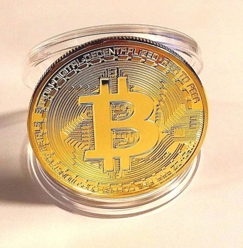 Gold Plated Commemorative Bitcoin