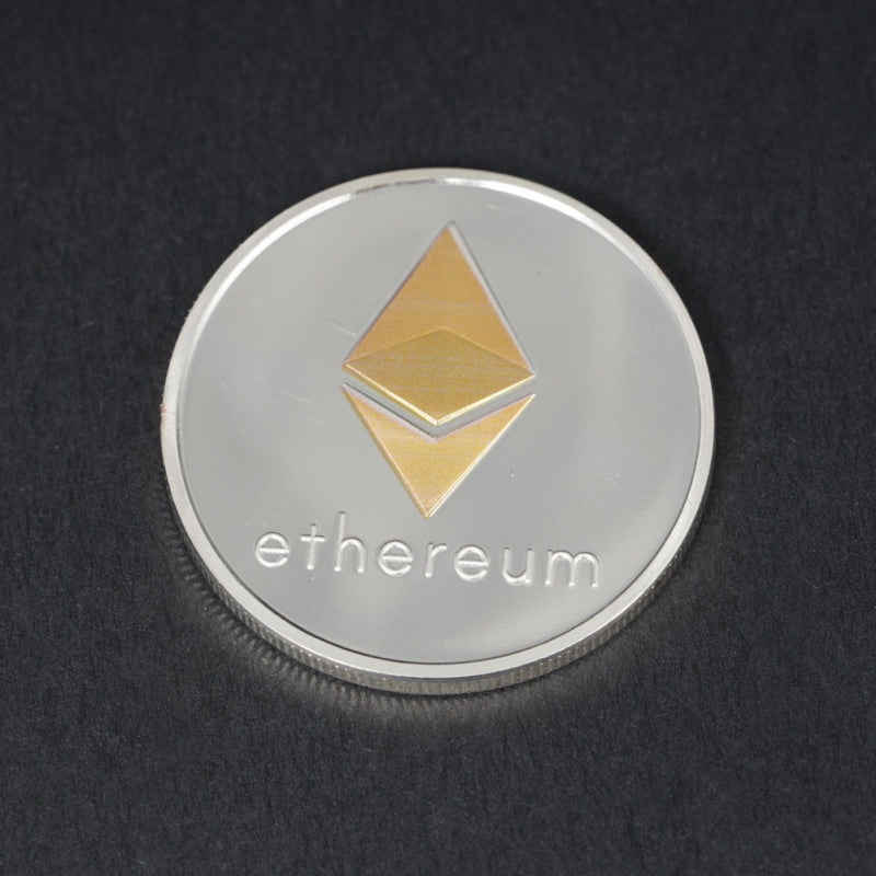 Silver Back Gold Middle Ethereum Commemorative Coin