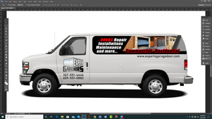 DOWN PAYMENT COMMERCIAL WRAP GRAPHICS ONLINE DESIGN VAN
