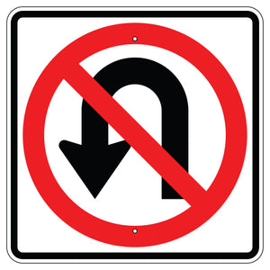 No U Turn Symbol Sign