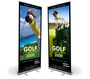 Retractable Banner Stand with impression full color.