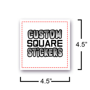 Square STICKERS FULL COLOR OR BLACK