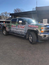 DOWN PAYMENT GRAPHICS ONLINE DESIGN COMMERCIAL WRAP PICK-UP TRUCK DOUBLE CAB.