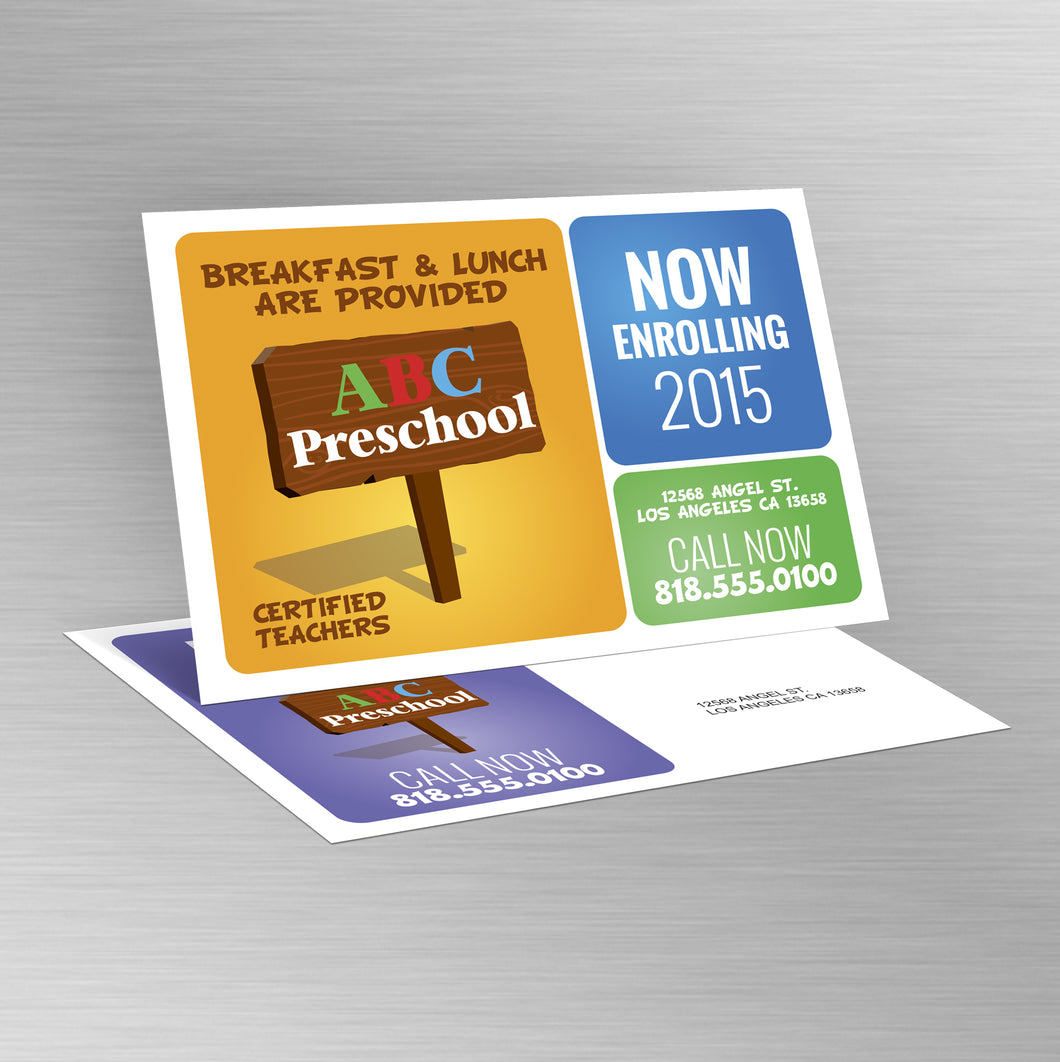 1000 Post Card glossy finish Custom High Quality full color both side size 7