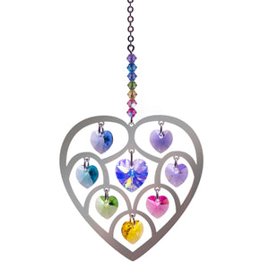 Wildthings Crystal Hanger Large Heart Confetti