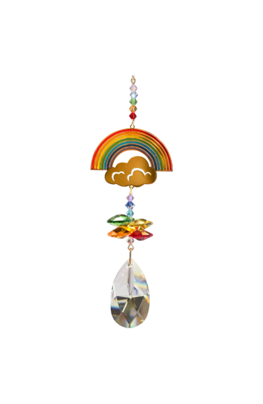 Wildthings Crystal Hanger Thank you Rainbow