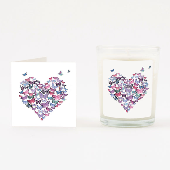 Butterfly Boxed Candle & Card
