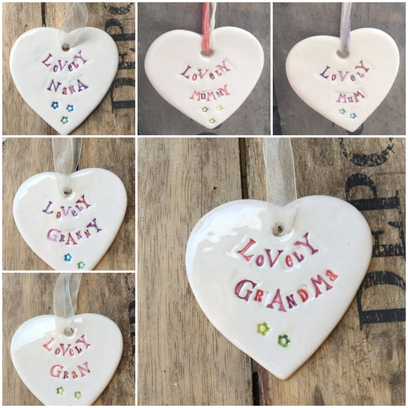 Family Ceramic Heart