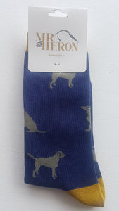 Mens Bamboo Mix  Socks Labrador
