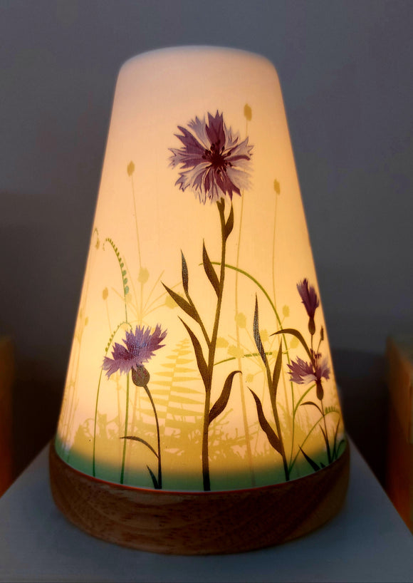 Glowing Ceramic Candle Holder Cornflower