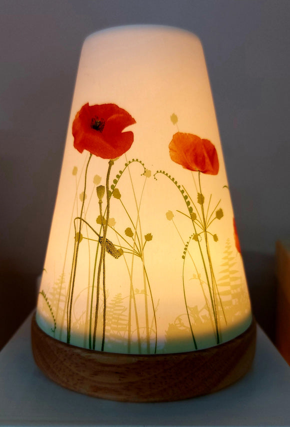 Glowing Ceramic Candle Holder Poppies