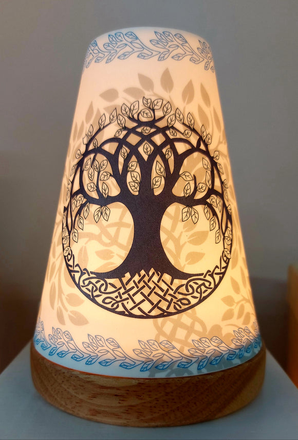 Glowing Ceramic Candle Holder Tree of Life