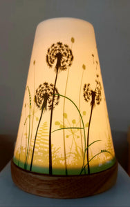 Glowing Ceramic Candle Holder Dandelion