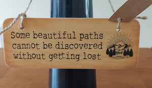 Rustic Wooden Sign Paths